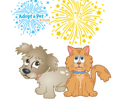 Adopt a Pet Dog-Cat-fireworks
