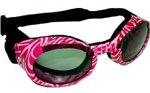 DOGGLES ILS pink zebra