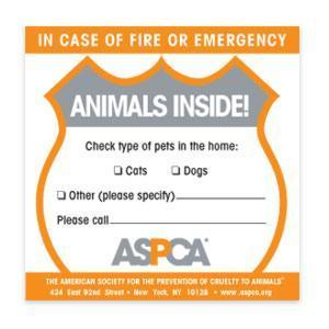 ASPCA fire-sticker