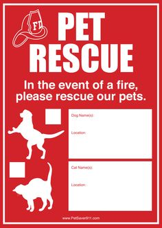 Pet Fire Sticker