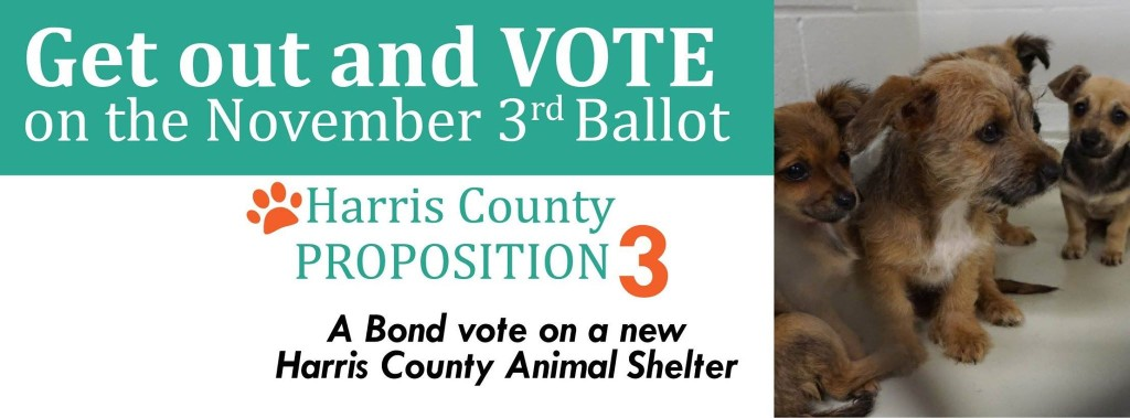 Harris County Shelter Bond banner