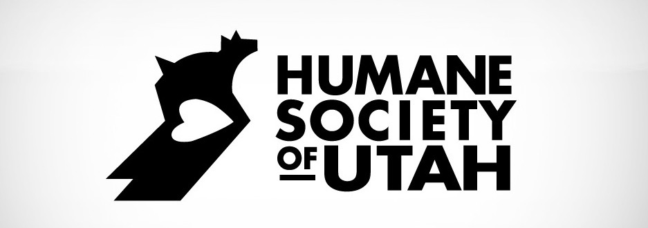 Humane Society of Utah logo bw